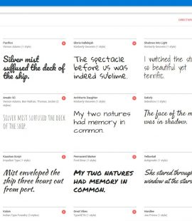 sample Google fonts