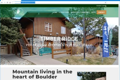 Inexpensive apartment website design for Timber Ridge Apartments