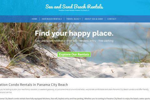 vacation condo rental website design