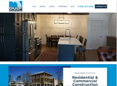 Screen shot of the new Gulf Building Company website. Gulf Building Company builds custom homes and commercial projects in Port St Joe and Mexico Beach, Florida.